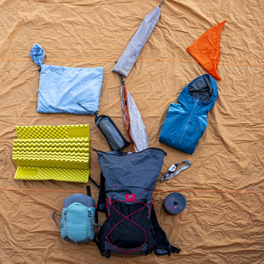 once you've gathered your gear it is time to start packing it into your backpack