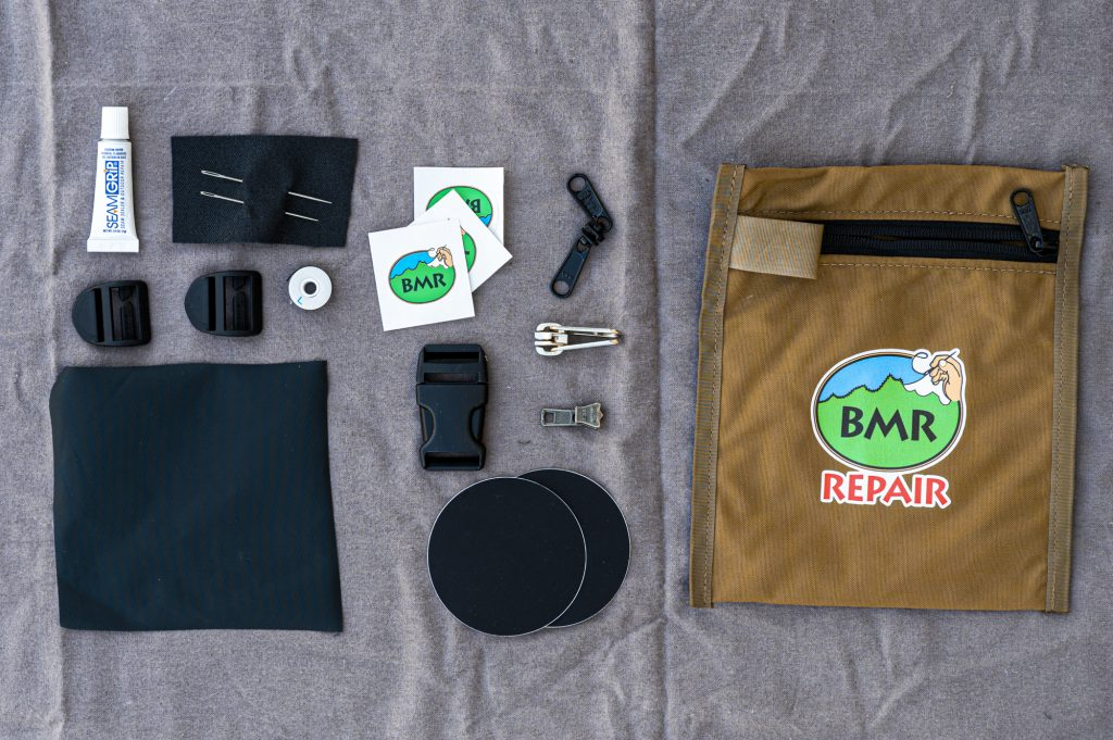 items  in the BMR repair kit such as zipper sliders and patches